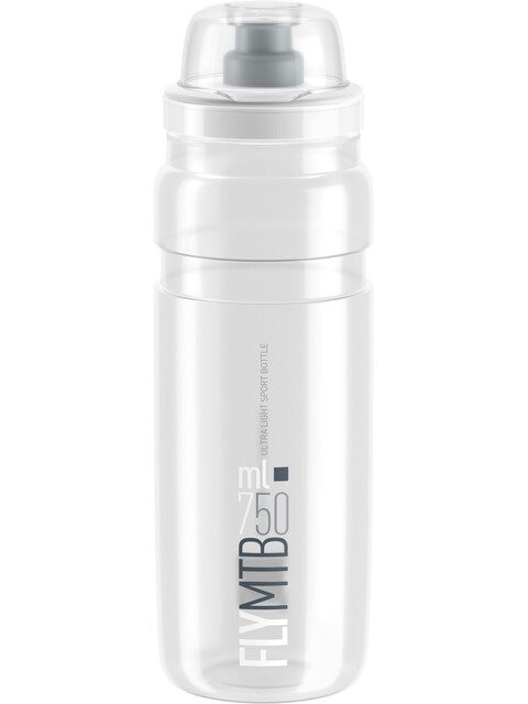 Elite Fly MTB Trinkflasche 750ml clear/graues logo